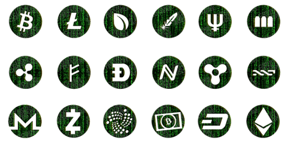 Selection of some alternative cryptocurrencies