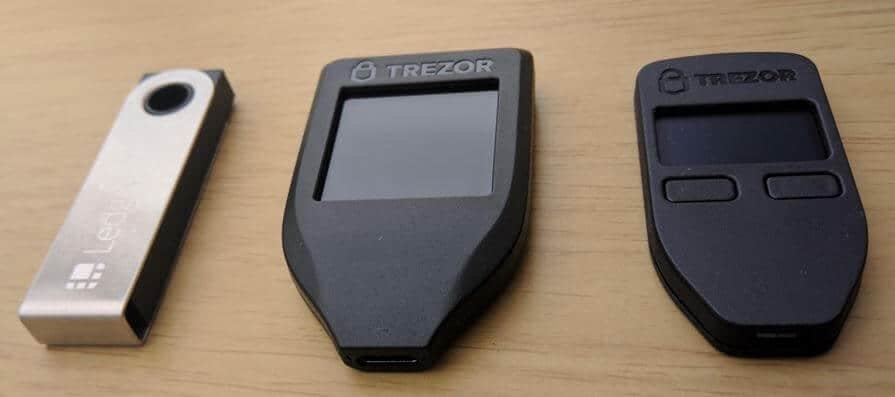 Ledger Nano S vs Trezor vs Trezor Model T